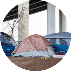 Los Angeles homeless tent encampments require outreach from recuperative care services.