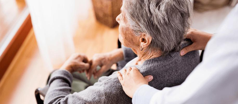 A caregiver at a respite care home.