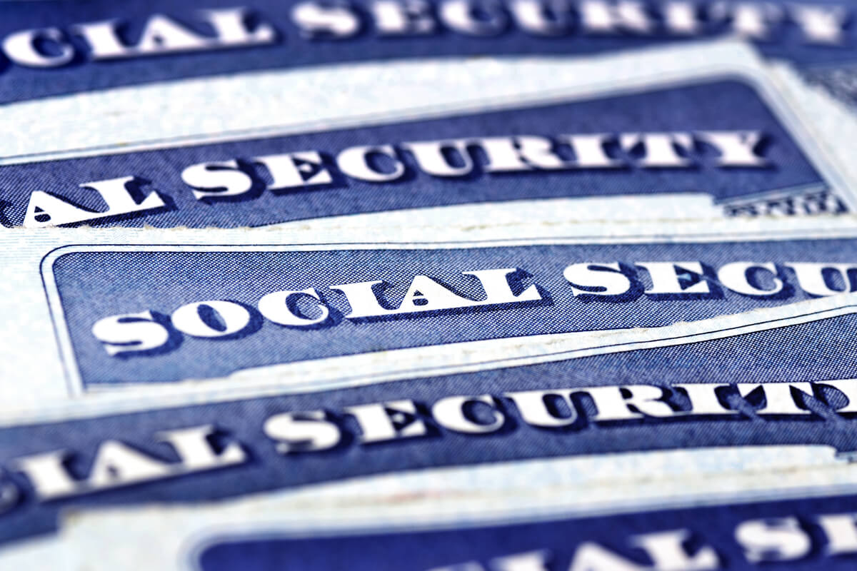 A close up image of social security cards